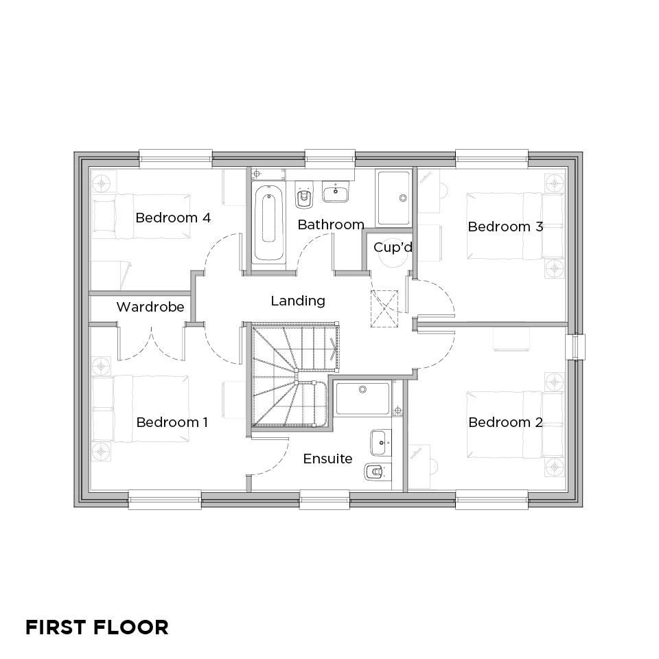 Upbury Grange Oak floorplans first floor